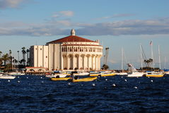 Avalon Casino. Casino at Avalon Harbor on Catalina Island stock images