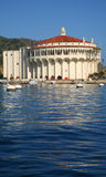 Avalon Casino. The Avalon Casino as seen from the harbor water level in the boat mooring area at Santa Catalina Island Stock Images