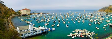 Avalon, Catalina Island. Avalon harbor, Catalina Island, California stock photography