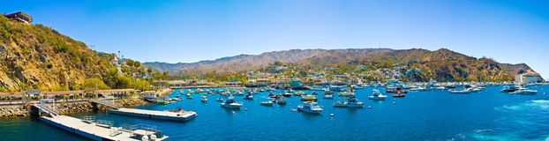 Avalon, Catalina Island. Avalon harbor, Catalina Island, California royalty free stock photography
