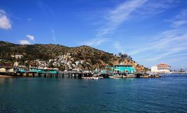 Avalon Harbor. Harbor at Avalon, Santa Catalina Island, California Royalty Free Stock Images
