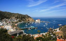 Avalon Harbor. Harbor at Avalon, Santa Catalina Island, California Royalty Free Stock Photography