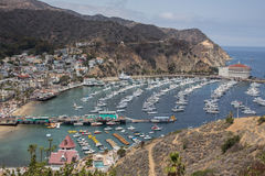 Avalon Harbor on Catalina Island Stock Photography