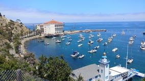 Avalon Harbor. A peaceful day overlooking Avalon Harbor in California Royalty Free Stock Images