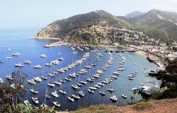 Avalon Harbor, Santa Catalina Island. Scenic landscape view of Avalon Harbor, Santa Catalina Island, California Stock Images
