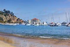 Avalon Harbor, Santa Catalina Island. Scenic landscape view of Avalon Harbor, Santa Catalina Island, California Stock Photography