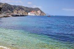 Avalon Harbor, Santa Catalina Island. Scenic landscape view of Avalon Harbor, Santa Catalina Island, California Stock Photo