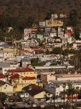Avalon Homes. Buildings of Avalon on Santa Catalina Island in Southern California royalty free stock image