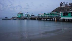 Avalon, lapso de tiempo de la noche de Santa Catalina Island metrajes