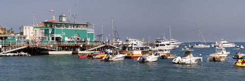 Avalon Marina Panaoramic Image Royalty Free Stock Photo