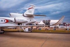 Avalon Melbourne, Australien - Mars 3, 2019: Privat stråle för Dassault falk 8X fotografering för bildbyråer