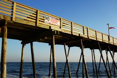 Free Avalon Pier At The Outer Banks Of North Carolina Royalty Free Stock Photos - 202924778