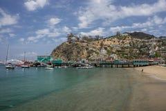 Avalon Pier Santa Catalina Island Royalty Free Stock Photography