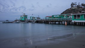 Avalon, Santa Catalina Island night time Time Lapse stock footage