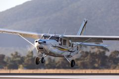 Gippsland Aeronautics GA8 Airvan VH-SXK single engine utility aircraft being used for skydiving operations. Avalon, Victoria, Australia - March 3, 2013 stock image