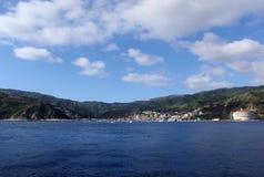 Avalon zatoka na Catalina wyspie Zdjęcie Stock