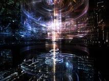 Avanço da metrópole do Fractal Imagens de Stock