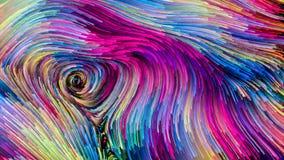 Avanço da pintura colorida ilustração do vetor