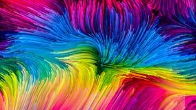 Avanço da pintura colorida ilustração stock