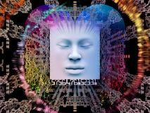 Avanço do ser humano super AI Imagens de Stock Royalty Free