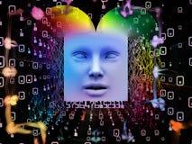Avanço do ser humano super AI Fotografia de Stock Royalty Free