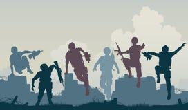 Avanço dos soldados Imagem de Stock