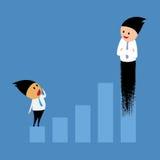 Avanços no negócio e no investimento Imagens de Stock