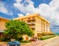 AVANA, CUBA - 30 AGOSTO 2015: Hotel storico Fotografie Stock