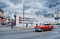 AVANA, CUBA - 1° AGOSTO 2016 Vista dell'automobile americana classica d'annata Fotografia Stock