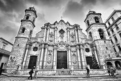 Avana, CUBA - 19 dicembre 2015: Avana, la cattedrale del vergine Immagine Stock Libera da Diritti