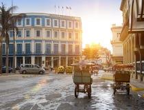 AVANA, CUBA 27 GENNAIO 2013: via di vecchia Avana Fotografie Stock Libere da Diritti