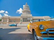 AVANA, CUBA - 8 LUGLIO 2016 Automobile americana classica d'annata, commo Fotografia Stock