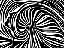 Avance de líneas internas ilustración del vector