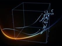 Avance de la géométrie Photographie stock libre de droits