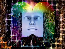 Avance del ser humano estupendo AI Imagenes de archivo