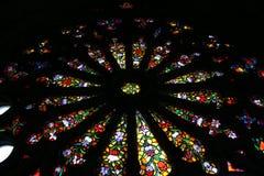 Avance en verre de la basilique le voeu national à Quito image stock