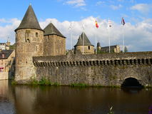 Avancee du chateau de Fougeres ( France ) Stock Images
