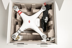 Avancerad surrquadrocopterDji fantom 3 Arkivbild