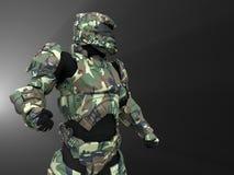 Avancerad toppen soldat stock illustrationer
