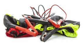 Avances de saut et concept d'hiver de chaussettes de neige (chaînes) sur le backg blanc Images stock