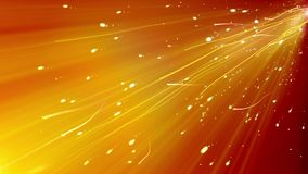 Abstract Wavy Lines Background. An avandard 3d illustration of curvy lines dashing somewhere in the sparkling golden background. They fly through white spots Royalty Free Stock Photos