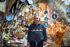 Avanos handicraftsman in his pottery workshop Royalty Free Stock Photos