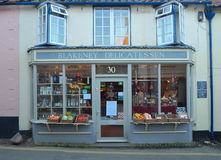 Avant Blakney Norfolk de boutique d'épicerie fine photos stock