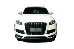 Avant blanc de suv Photos stock