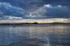 Avant coucher du soleil image stock