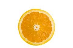 Avant découpé en tranches par orange en fonction Photos libres de droits