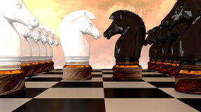 Avant d'échecs Image libre de droits