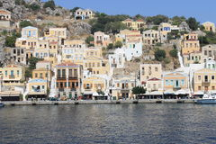 Avant d'île grecque panoramique Photo stock