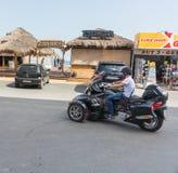 Avant d'aller à la plage en Sunny Beach en Bulgarie photo stock