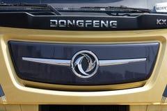Avant d'un camion de Dongfeng à Amsterdam Images stock